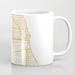 CHICAGO ILLINOIS CITY STREET MAP ART Coffee Mug