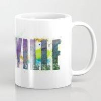 nashville Mugs featuring Nashville by Tonya Doughty