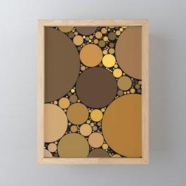 halsey redux: chocolate caramel dark brown abstract design Framed Mini Art Print