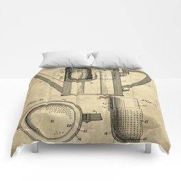 Coffee Pot Blueprint Comforters