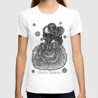 gothic T-shirts featuring Gothic Skeleton by AKIKO
