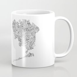 Queens - Hand Lettered Map Coffee Mug