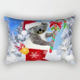 Baby Koala Christmas Cheer Rectangular Pillow