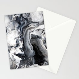 Marble B/W/G Stationery Cards