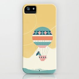 Travel in a Coffee Hot Air Balloon iPhone Case