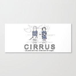 Cirrus/Les pieds dans l'eau, la tete dans les nuages. Canvas Print