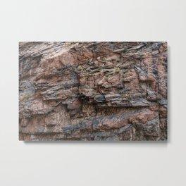 Royal Gorge Rock Formation Texture Metal Print