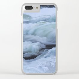 Storforsen, biggest Waterfall in the north of Sweden Clear iPhone Case
