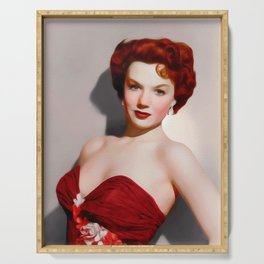 Piper Laurie, Vintage Actress Serving Tray