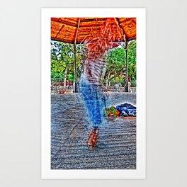tap dancer [times twelve] Art Print