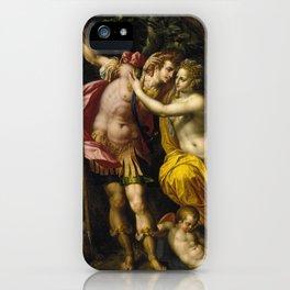 Hendrick De Clerck - Venus And Adonis. iPhone Case