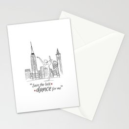 Save the last dance Stationery Cards