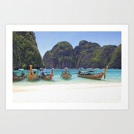 Maya Bay, Phi Phi Island Leh, Thailand Art Print