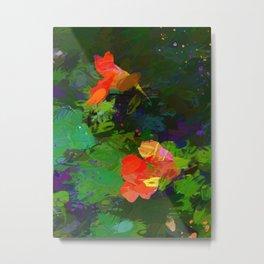 Nasturtiums in the garden Metal Print