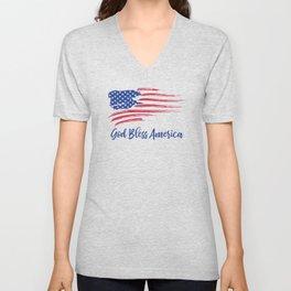 God Bless America Unisex V-Neck