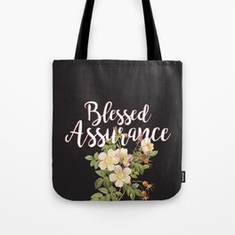 Blessed Assurance - Black Tote Bag
