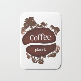 Welcome to the Coffee planet - I love Coffee Bath Mat