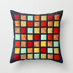 patchwork 001 Throw Pillow