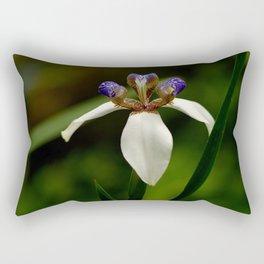 Solitary Violet Iris Rectangular Pillow