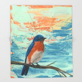 Eastern Bluebird Throw Blanket