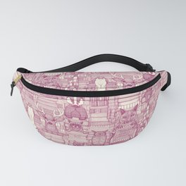 books and blankies cherry pearl Fanny Pack