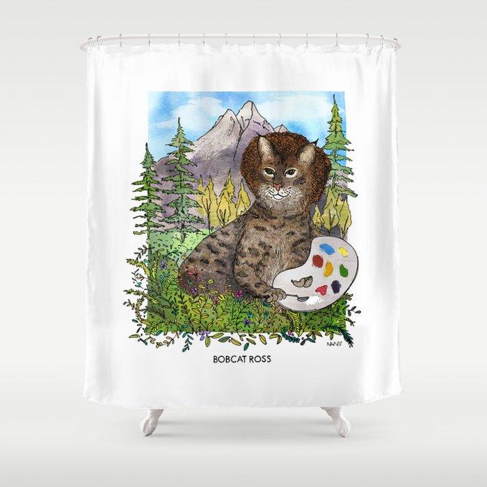 Bobcat Ross Shower Curtain