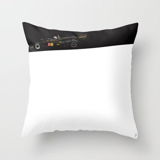 Mario Andretti, Lotus 77, 1976 Throw Pillow