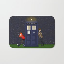 Doctor, Amy, and the TARDIS Bath Mat
