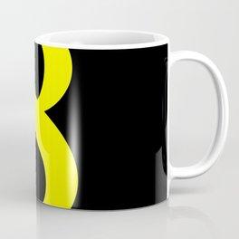 8 (YELLOW & BLACK NUMBERS) Coffee Mug