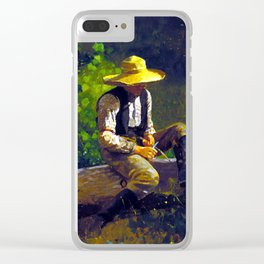Winslow Homer The Whittling Boy Clear iPhone Case