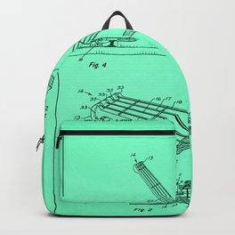 Guitar Patent - azure Backpack