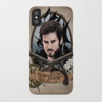 captain hook iPhone & iPod Cases featuring Captain Hook by artbymurrl
