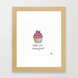 Original Watercolour and Ink Cake for Everyone Illustration Framed Art Print