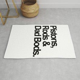 Pistons, Rods & Dad Bods Rug