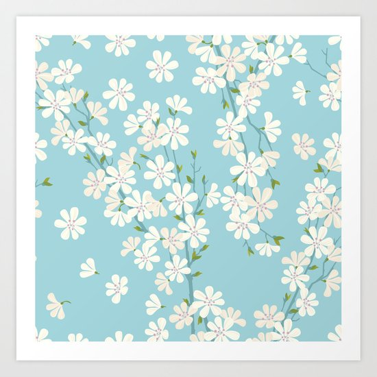 Turquoise Bloom Art Print