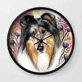 Sweet Collie Wall Clock