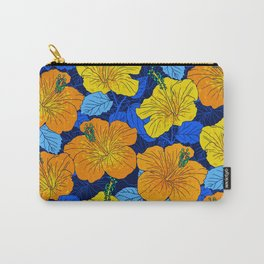 Yellow Summer Hibiscus Carry-All Pouch