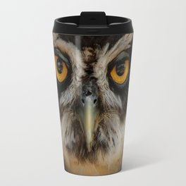 Trading Glances with a Spectacled Owl Travel Mug