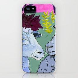 Gossiping sheep iPhone Case