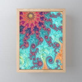 Rainbow Fractal Framed Mini Art Print