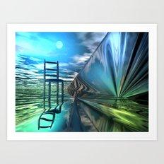 Der leere Stuhl Art Print