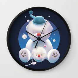 Bichon Ice Shaver Wall Clock