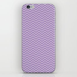 Modern ultraviolet white zigzag chevron pattern iPhone Skin