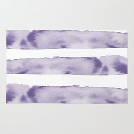Watercolour Stripes in Violet Rug