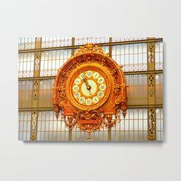 Musee D'Orsay Clock Metal Print