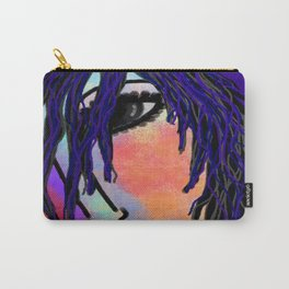 Abstract Digital Portrait of a Woman Carry-All Pouch