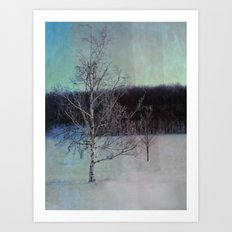 You and I little tree Art Print