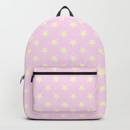 Cream Yellow on Pink Lace Stars Backpack