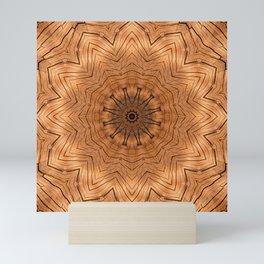 Wooden Flower Ring kaleidoscope Mini Art Print