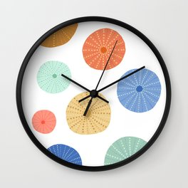 Colorful Sea Urchins Wall Clock